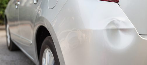 car with dent on bumper melbourne image